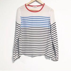 Equipment femme. 100% silk. Striped long sleeve